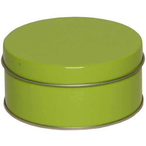 4 x 2 Small Lime Green Metallic Tins