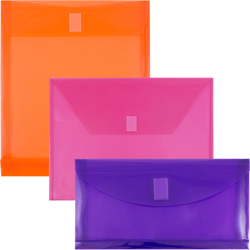 Plastic Envelopes with VELCRO® Brand Closure