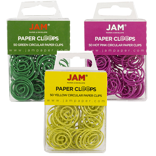 papercloops round circular paperclips jam paper