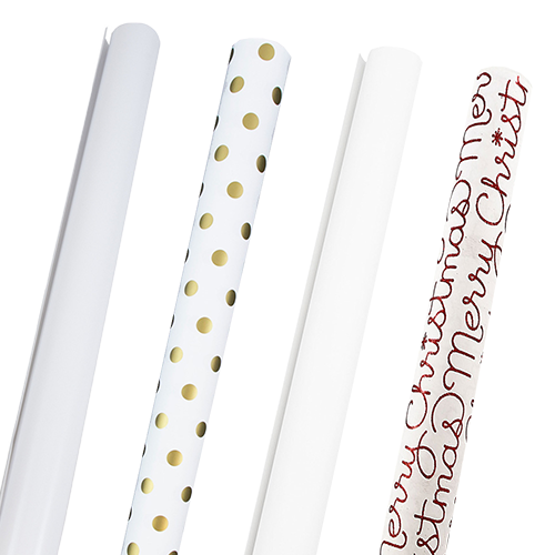 White Wrapping Paper Rolls