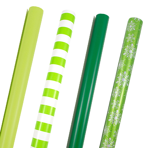 Green Wrapping Paper Rolls