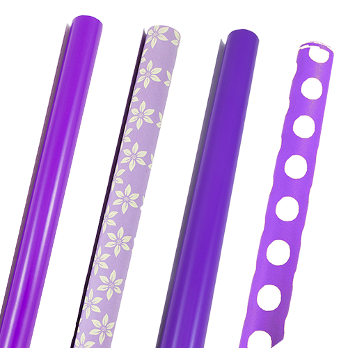 Purple Wrapping Paper Rolls