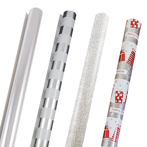 Silver Wrapping Paper Rolls