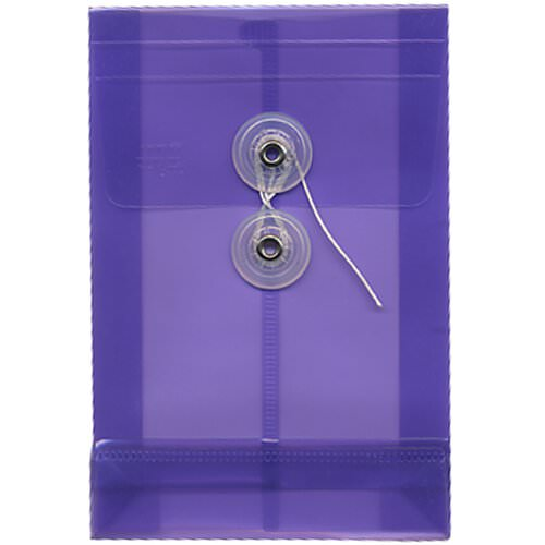 Purple A6 Plastic Envelopes - 4 1/4 x 6 1/4