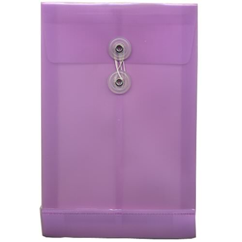 Purple 6 1/4 x 9 1/4 Plastic Envelopes
