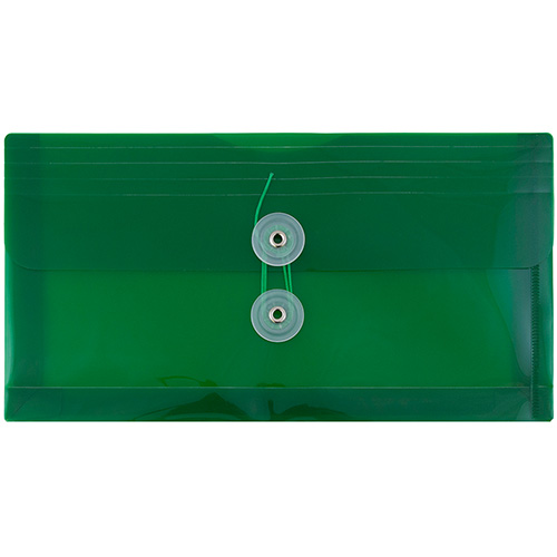 Green #10 Business Plastic Envelopes - 5 1/4 x 10