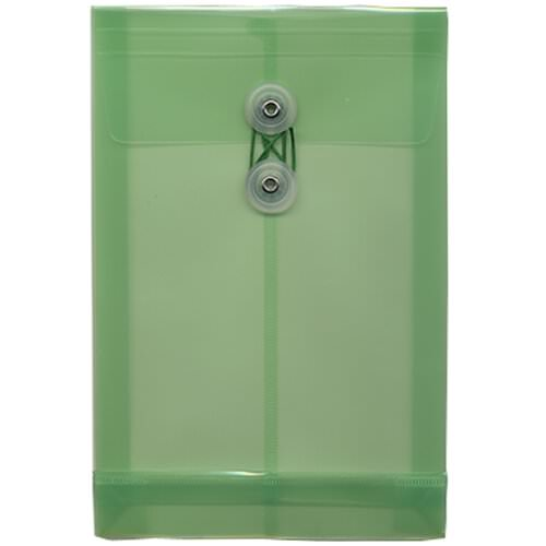 Green 6 1/4 x 9 1/4 Plastic Envelopes