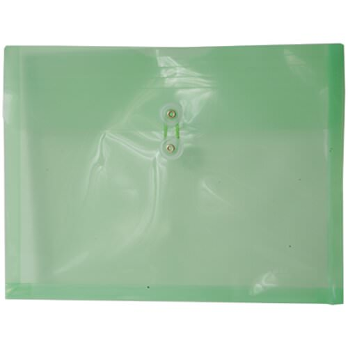 Green Letter Booklet Plastic Envelopes - 9.75x13