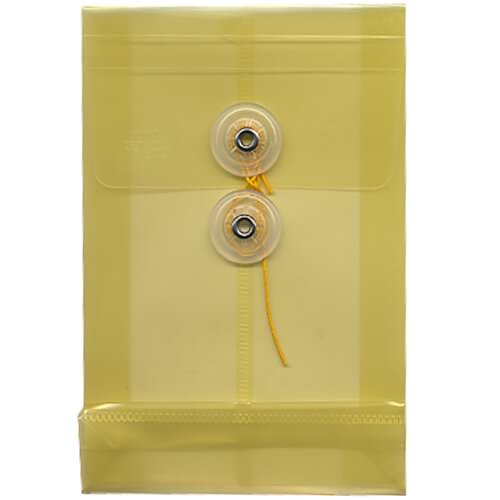 Yellow A6 Plastic Envelopes - 4 1/4 x 6 1/4