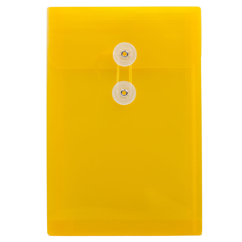 Yellow 6 1/4 x 9 1/4 Plastic Envelopes