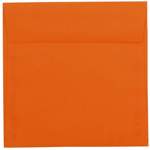 Orange 6 1/2 x 6 1/2 Square Envelopes