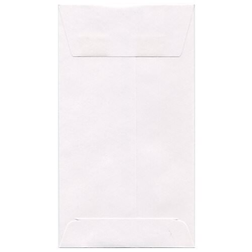 White #7 Coin Envelopes - 3 1/2 x 6 1/2