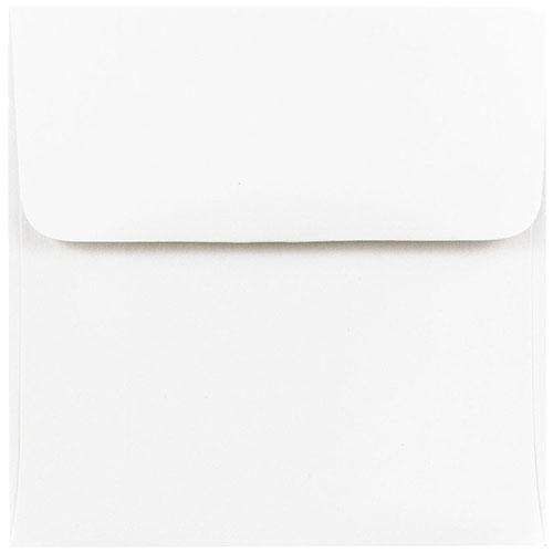 White 4 1/2 x 4 1/2 Square Envelopes