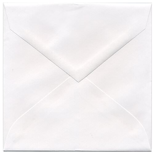 White 5 3/4 x 5 3/4 Square Envelopes