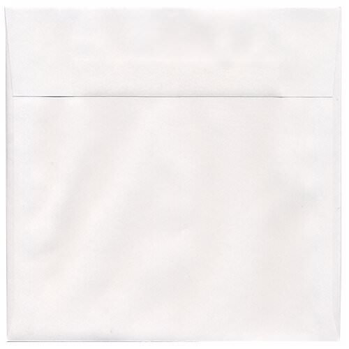 White 7 1/2 x 7 1/2 Square Envelopes