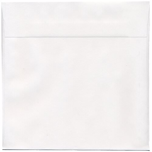 White 10 x 10 Square Envelopes
