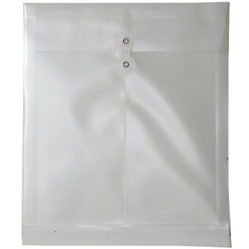 White Letter Open End Plastic Envelopes- 9.7x11.7