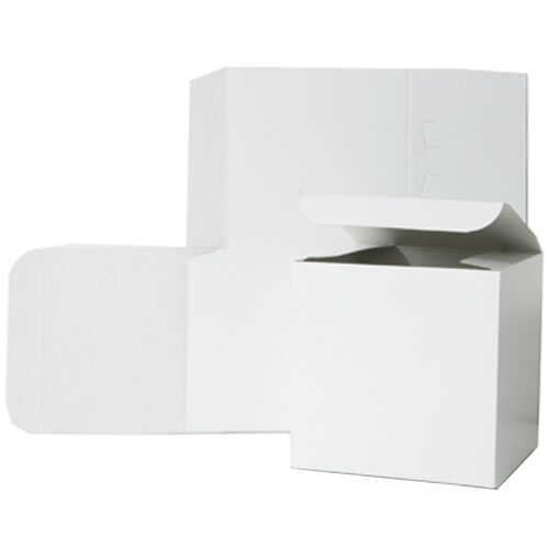 7 x 7 x 7 White Open Top Box