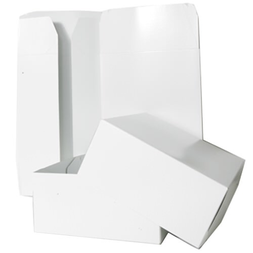 12 x 12 x 5 1/2 White Full Lid Gift Box