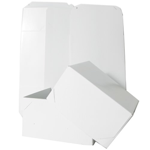 9 x 9 x 5 White Full Lid Gift Box