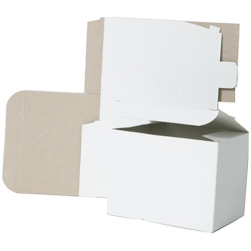 5 x 5 x 3 White Open Top Gift Box