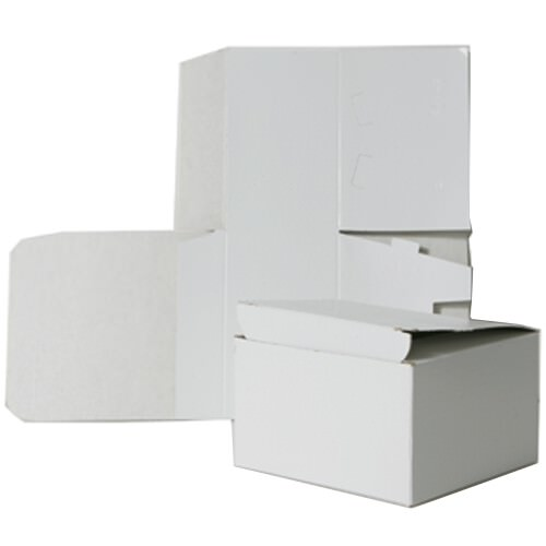 6 x 6 x 4 White Open Top Gift Box