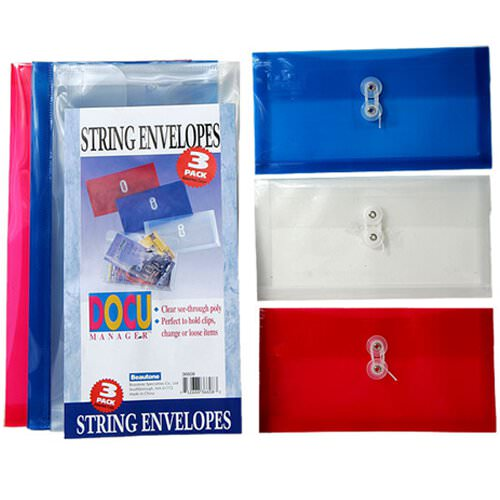 #10 Plastic Button & String Packs