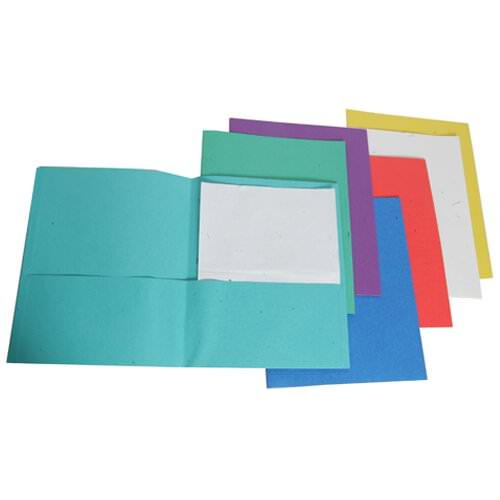 duo tang folders in bright assorted colors