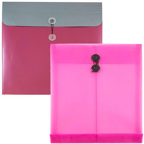 Closeout Plastic Button & String Envelopes