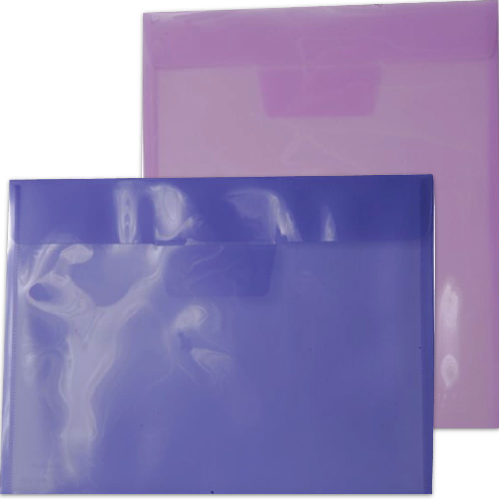 Lilac Plastic Tuck Flap Closure Envelopes