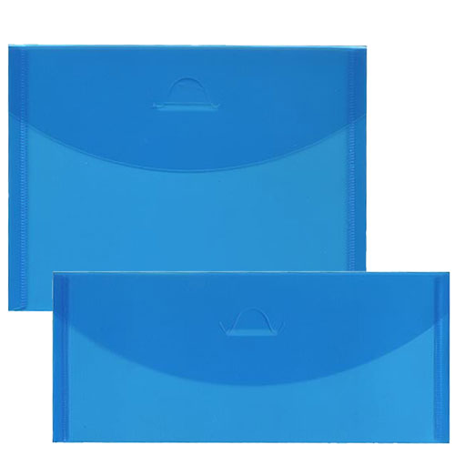 Blue Plastic Tuck Flap Closure Envelopes