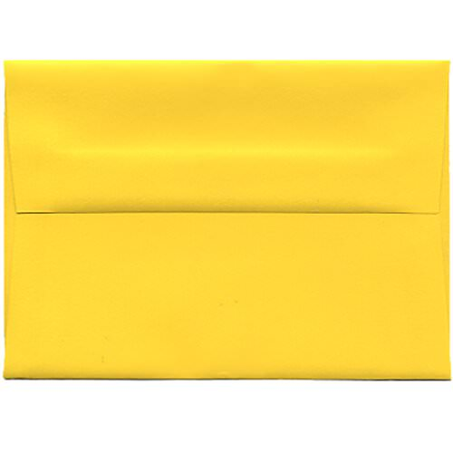 Yellow 4bar A1 Envelopes - 3 5/8 x 5 1/8