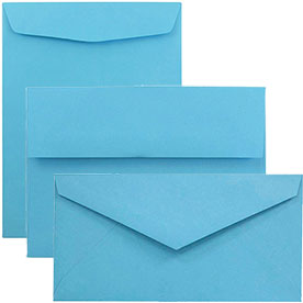 Blue Recycled Brite Hue Envelopes & Paper