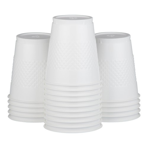 White Plastic Cups