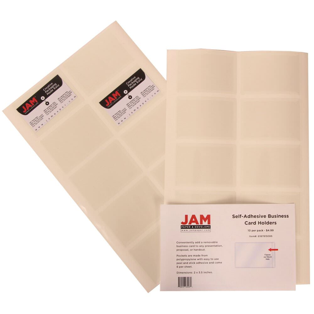 Self adhesive business card holders jam paper colourmoves