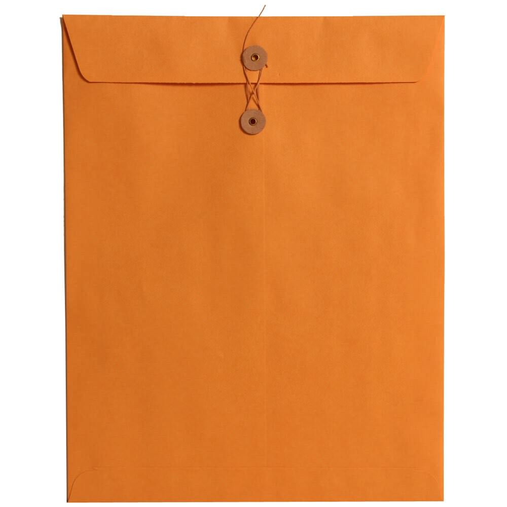 orange Manila Envelope with button and string closure