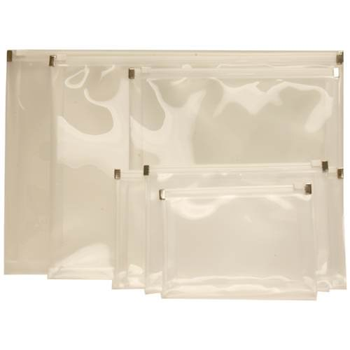 White Plastic Envelopes with Zip Closure