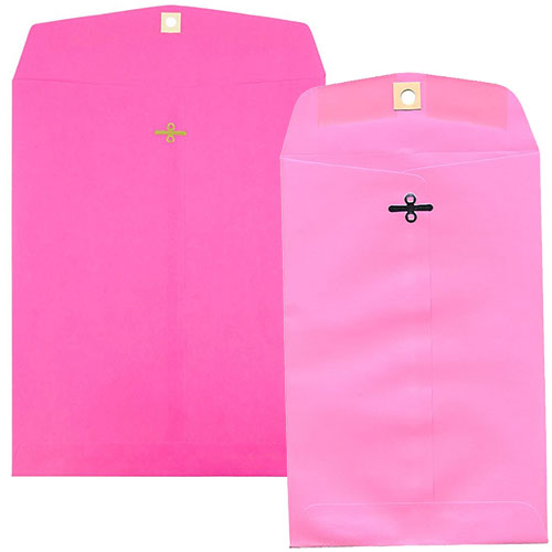 Pink Clasp & Open End Envelopes