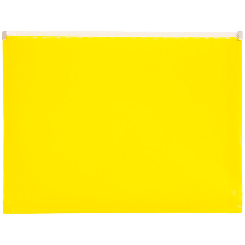 Yellow Plastic Envelopes with Zip Closure