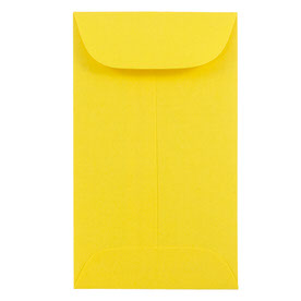 Yellow # 5 1/2 Envelopes - 3 1/8 x 5 1/2