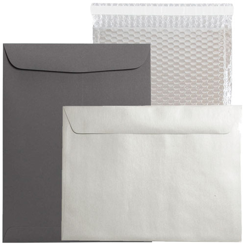 Silver & Grey 9 x 12 Envelopes