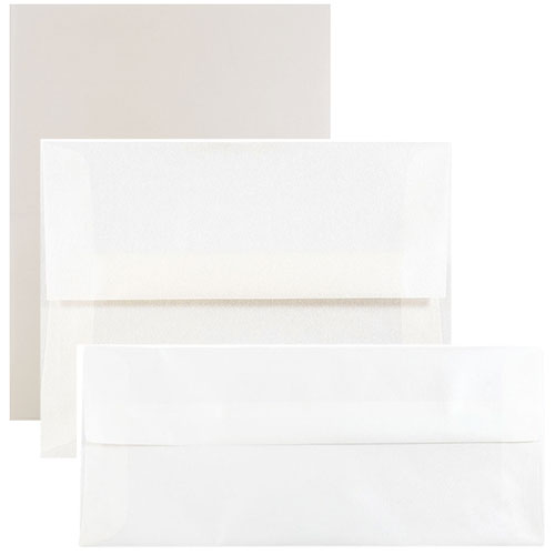 Platinum Translucent Envelopes & Paper