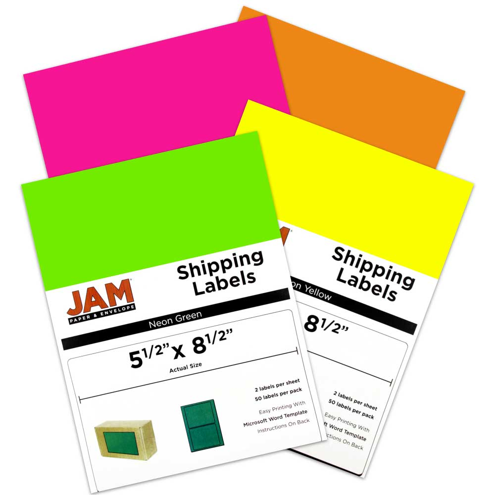 5 1/2 x 8 1/2 Shipping Labels