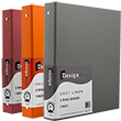 Cloth Covered Heavy Duty Three Ring Binders - 1