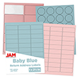 Baby Blue & Baby Pink Labels