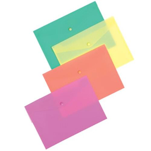 Plastic Frosted Snap Envelopes