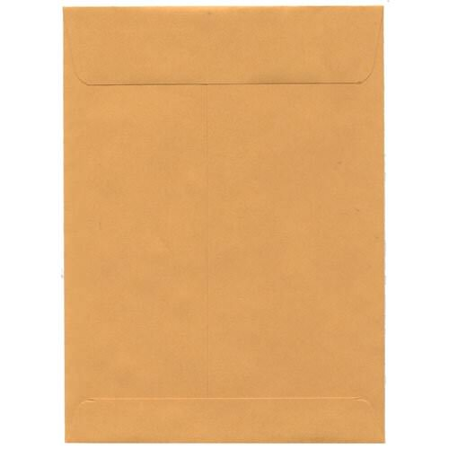 large brown envelope with gum flap