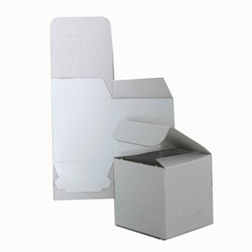 3 x 3 x 3 Open Lid White Box