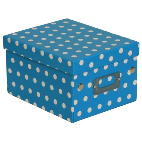 6 3/4 x 8 5/8 x 5 1/8 Blue with Small Dot Box