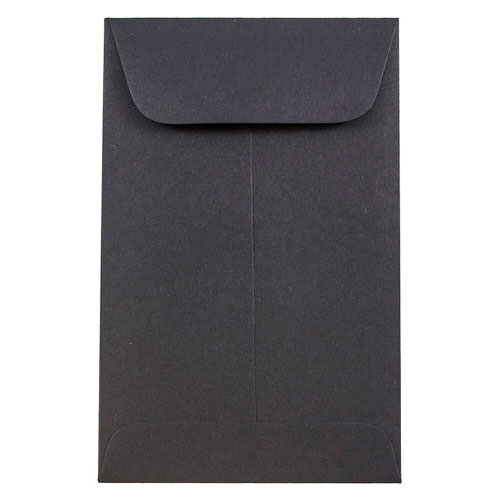 Black #1 Coin Envelopes - 2 1/4 x 3 1/2